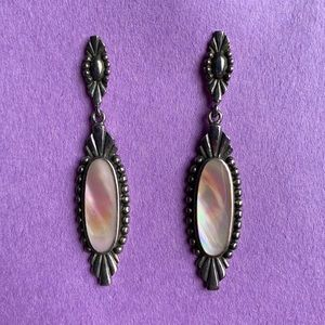 VINTAGE MOP OVAL 925 earrings